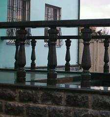 Rail-posts, carvings, ornaments from granite,