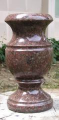 Vases from natural granite