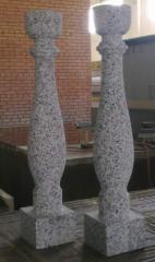 Rail-posts from natural granite