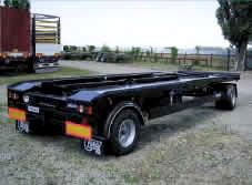 Trailers for the containers KRA18 LC