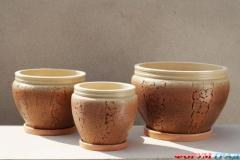 Ceramic pots 1-20 liters for landscaping the yard,