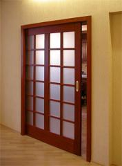 Doors interroom with glass