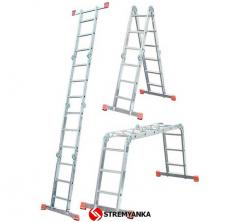 Hinged universal ladder of KRAUSE Corda MultiMatic