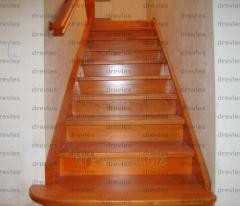 Лестницы деревянные, отделка бетонных лестниц