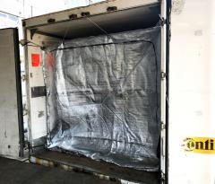 Thermal Container Liner 20', a thermal insert in a sea container 20 f