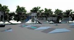 Скейт-парки на открытых площадках