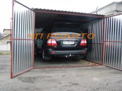 Металлические гаражи из оцинкованные и