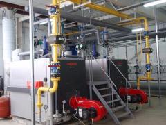 Autonomous gas supply of a boiler room, autonomous