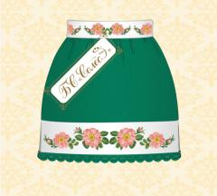 Kv_ti's skirt of a shipshina (it is green,