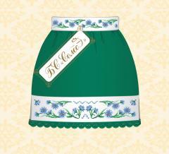 Voloshki's skirt (it is green, 10-12 rok_v)