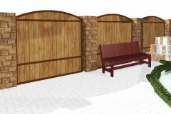 Заборы дачные, коттеджные деревянные