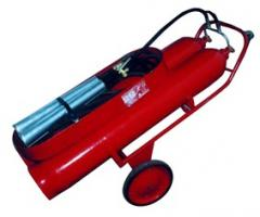 The fire extinguisher carbon dioxide OU-80...