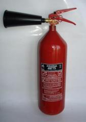 The fire extinguisher carbon dioxide OU-5...