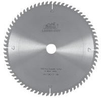 Circular saws for a cross cut, cutting of a