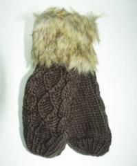 Mittens are brown