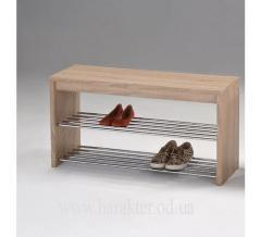 скамья с полками для обуви