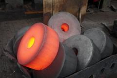 Forging by method of hot forging