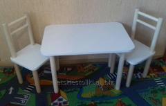 Детский столик с двумя стульчиками, лаванда