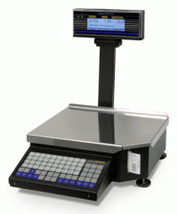Scales with the printer for the press of labels
