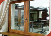 Окна и оконные системы деревянные из клееного бруса Bosco.