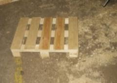 The pallet 500 x 500 wooden for transportation of