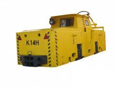 Электровоз шахтный К14, К-14, К 14, К14Н