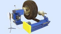The machine tire for wheels of Ataman trucks