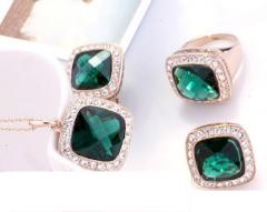 Комплект Versace Green Ювелирная Бижутерия Золото