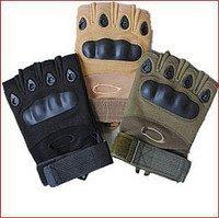 Перчатки Oakley с черным пластиком, Бежевый