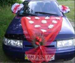 Украшение свадебное на автомобиль. Прокат.
