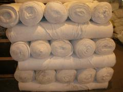 Cloths are nonwoven. Nonwoven fabrics