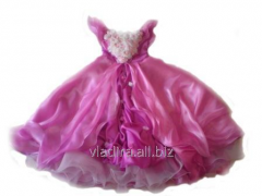 Elegant Rozaly dress, pink dress for the girl
