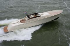 The FM-75 sportboat, with a speed of 40 knots this