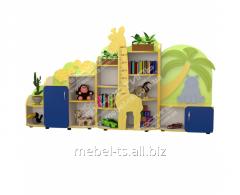 Стенка для игрушек с ростомером (Африка)