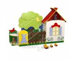 Стенка для игрушек (Домик в деревне)