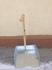 Совок дюралюминий размер 30 на 30 высота ручки 100
