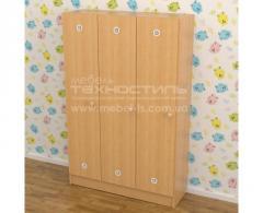 Шкаф для раздевалки в детский сад на 3...