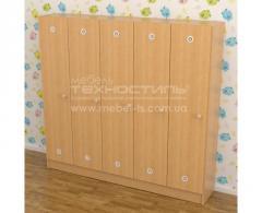 Шкафы для раздевалки пятисекционные