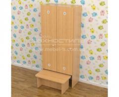 Шкаф двух секционный с лавкой