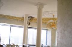 Column from an acrylic stone