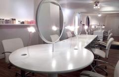 Furniture for hairdressing salons from an acrylic