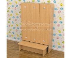 Шкаф секционный для детской раздевалки (3...
