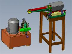 The machine for a brick splitting a semiautomatic