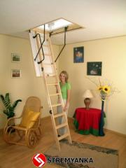 Garret ladder of OMAN Termo 120 x 70 with a