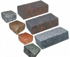 Stone blocks granite
