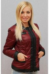 Куртка женская бордовая