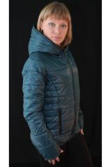Куртка женская на синтепоне синяя