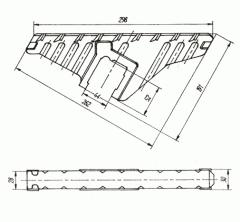 Колосники (колосниковые решетки), литье из чугуна