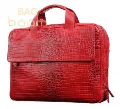 Сумка для ноутбука Vip Collection (306 red  croco)