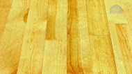Products from tree. Wooden board of floor pine -